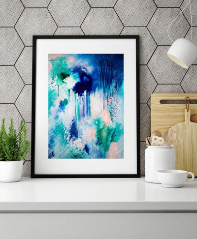 Phthalo_Atmosphere_abstract_wall_art_print_kitchen_Kate_Fisher