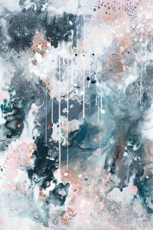 """Nordic Sky Storm I"" abstract art print by Australian artist Kate Fisher"
