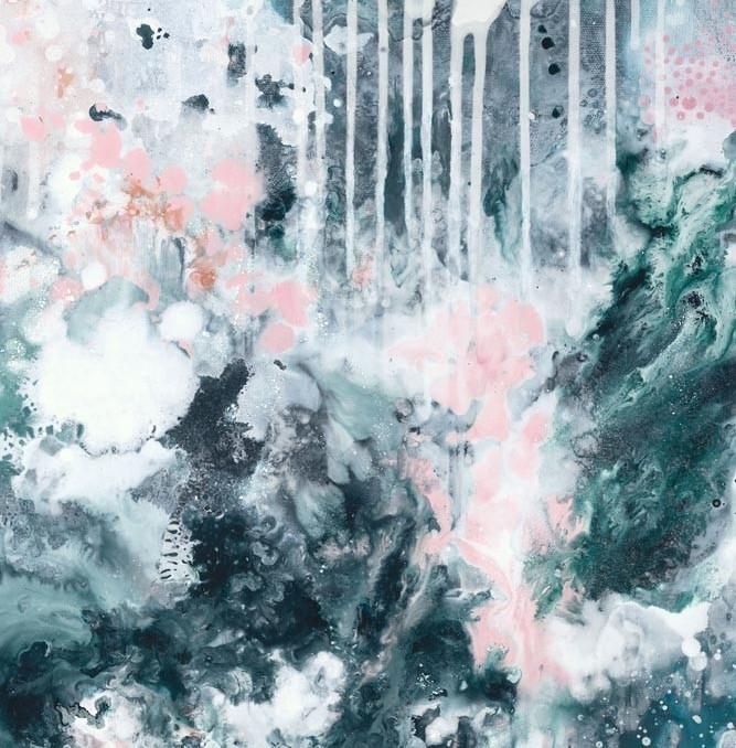 """Nordic Sky Storm II"" abstract art print by Australian artist Kate Fisher"