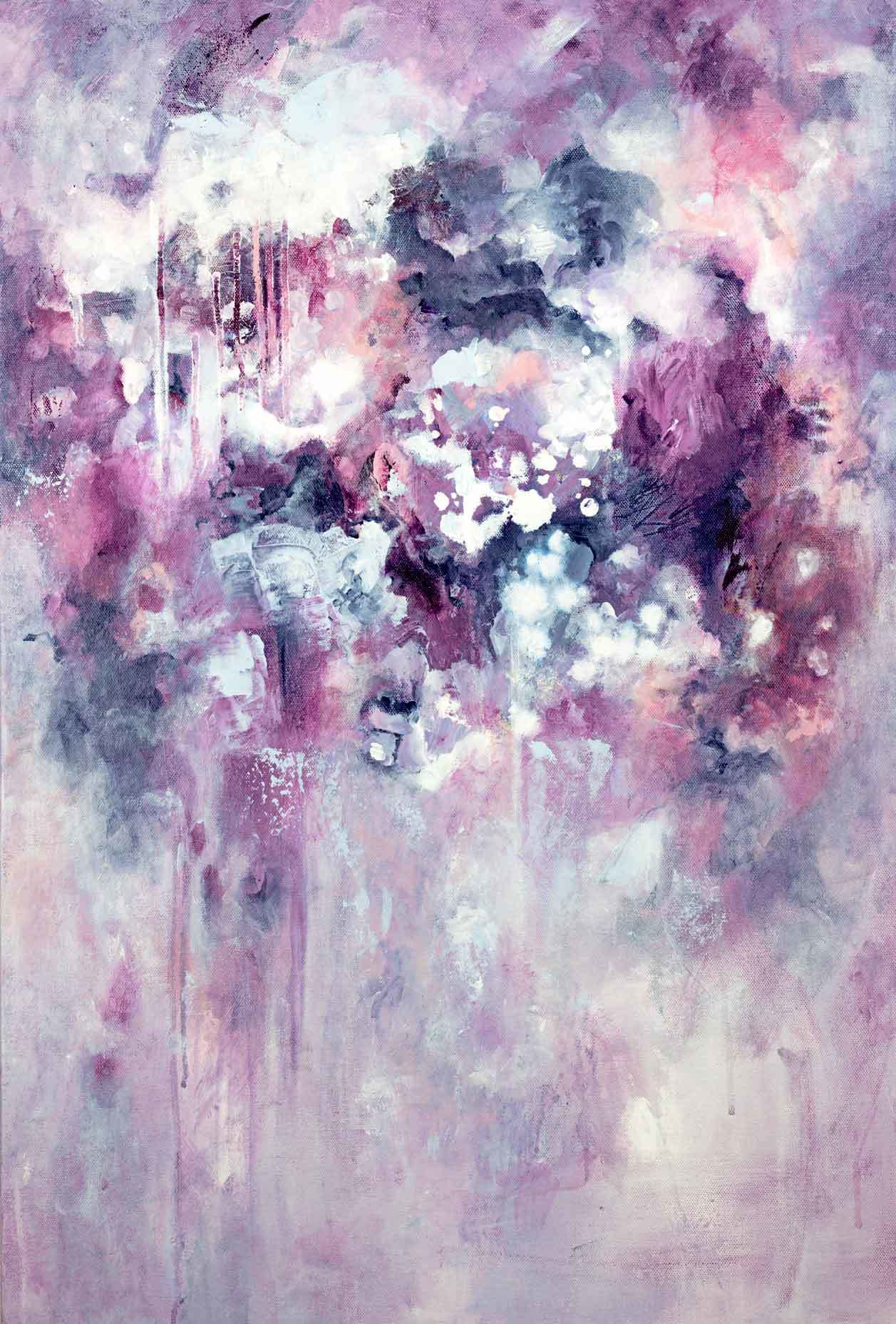 """Purple Haze"" abstract art print - Kate Fisher Artist"
