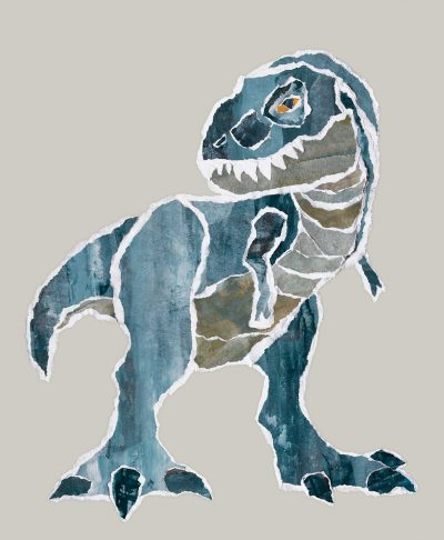 Mr. Blue Rex tyrannosaurus rex kids poster print