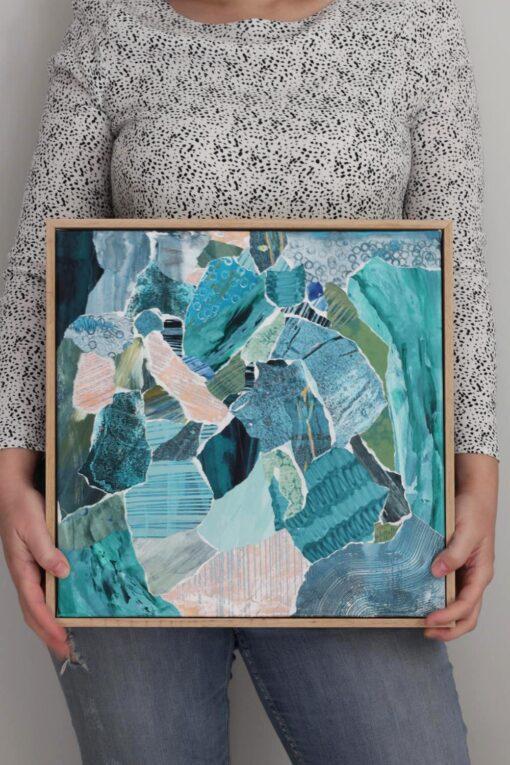 Kate Fisher art Little Mini #5 original abstract artwork